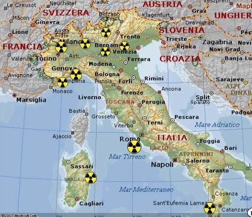 Bergamo Sulla Cartina Geografica.Svelato Il Piano Sulle Centrali Nucleari E Sulla Collocazione